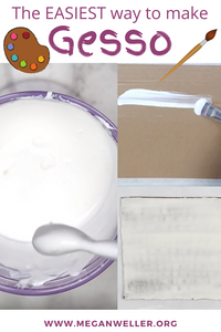 The easiest way to make gesso (gesso recipe)