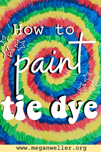 How to paint tie dye Pin (summer craft ideas to try when you're bored)