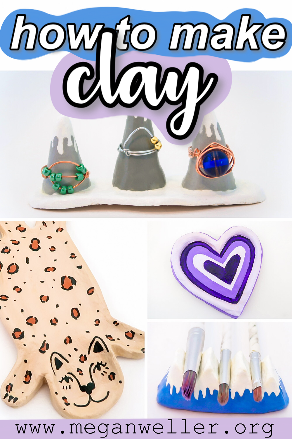 How to make clay (salt dough) with things you have at home! Air Dry Clay ideas, things to do when you're bored.