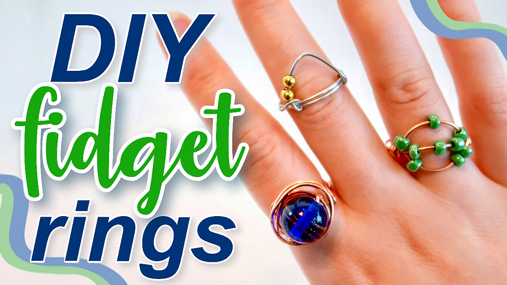 How to make fidget rings. Easy wire ring tutorial.
