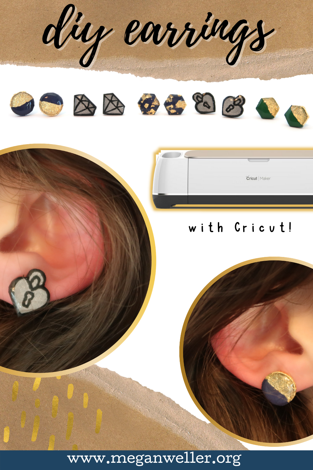 How to make earrings with basswood and a Cricut Maker.