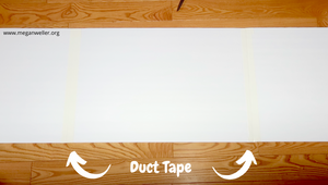 Duct Tape 3 pieces of foam board or cardboard together to form the base of the headboard.