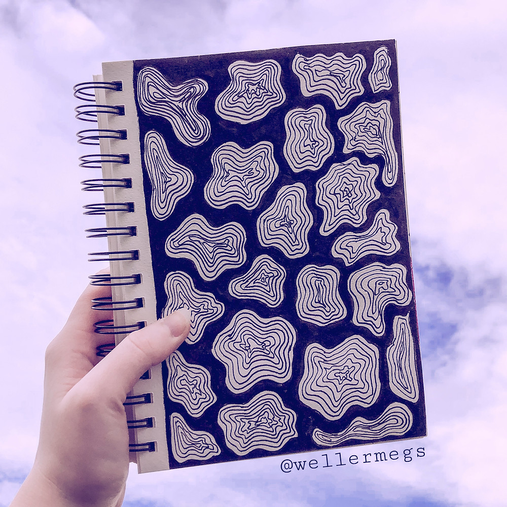 """""""Cow print"""" style doodles/drawing to try when you're bored"""