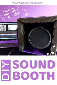 DIY Sound Booth/Recording Studio Pinterest Graphic