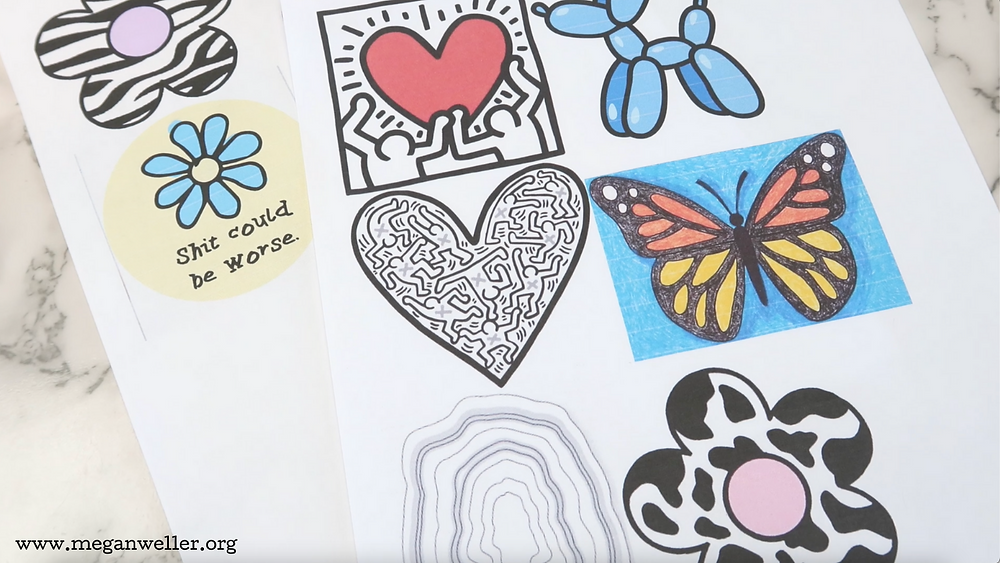 Pick out your images. Put them into a Word Document, making them about 3 inches big. This will allow the Shrinky Dinks to shrink down to about 1 inch.