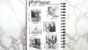 Photos printed with Phomemo printer: Cats, Megan Weller, Annnie LeBlanc, Beetlejuice, Univarsal Studios, and Disney World.