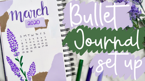 March 2020 Bullet Journal YouTube Thumbnail