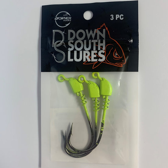 DSL Super Model Jig Head - 4/0-1/8 oz - Chart