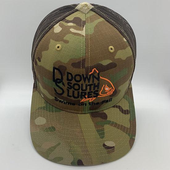 Camo/Brown Mesh Cap
