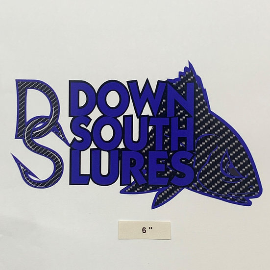 """DSL 6"""" Blue Decal"""