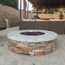 Construction remodeling project - built-in fire pit