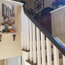 Construction remodel project - black handrail