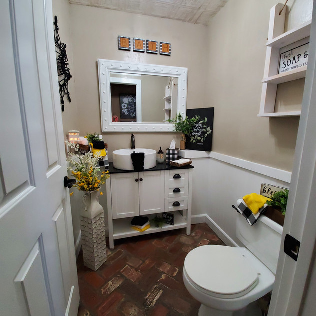 Construction remodeling project of a guest bath  updating this bathroom to a fresh farmhouse style