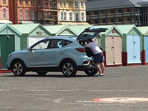 MG ZS EV Brighton Filming