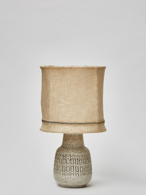 Scandinavian Speckled Ceramic Table Lamp with Original Shade