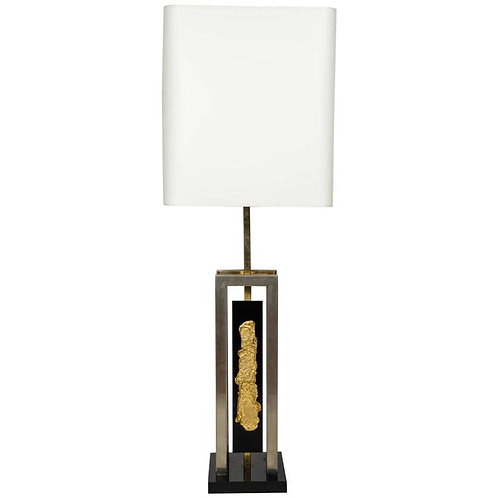Brass, Bronze and Black Plexiglass Desk Lamp