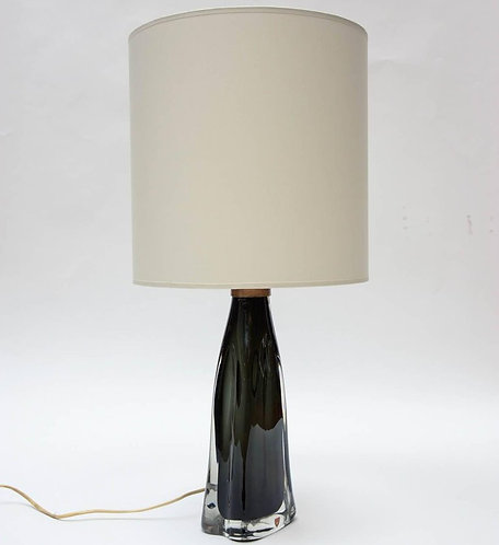 Pair of Crystal Table Lamps by Nils Landberg for Orrefors