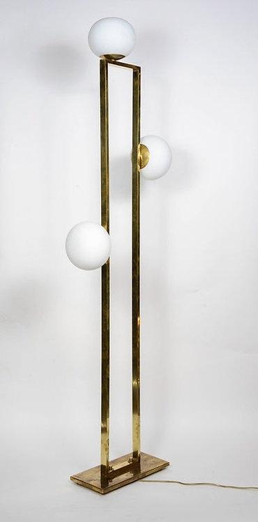 Glustin Luminaires Creation Rectangular Floor Lamps with Globes