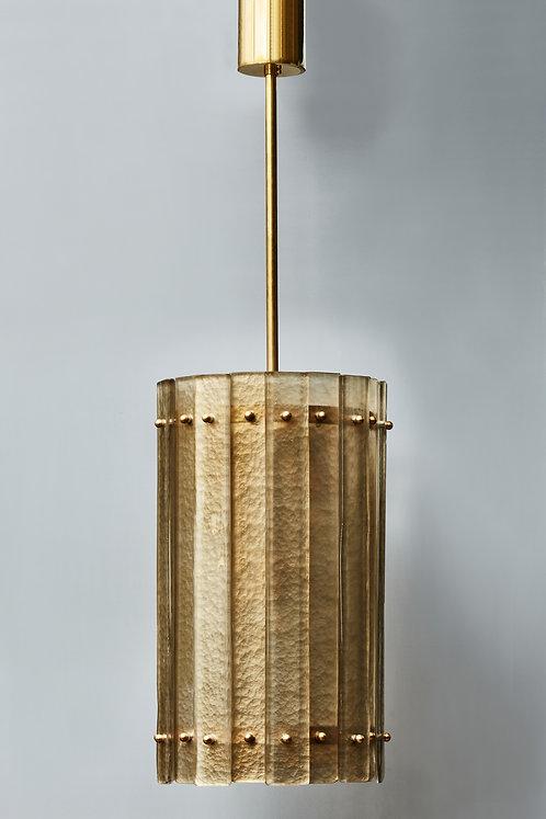 Brass and Golden Murano Glass Lantern