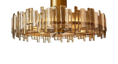 Round Murano Glass Fixture