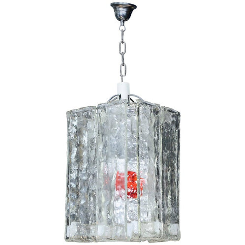 Modernist Square Murano Glass Pendant