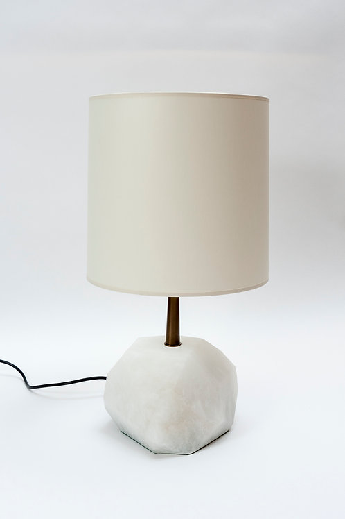 Glustin Luminaires Alabaster Monolith Faceted Table Lamps
