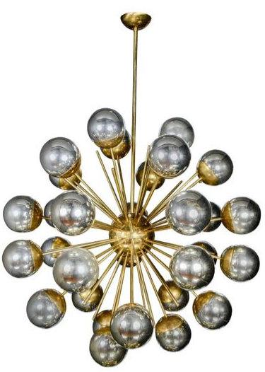 Metallic Sputnik Style Chandelier