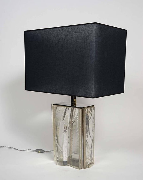 Asymmetric French Lucite Lamp
