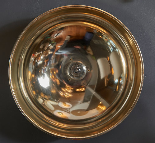 Set of Four Round Brass Peter Celsing Wall Lamps by Falkenbergs Belysning