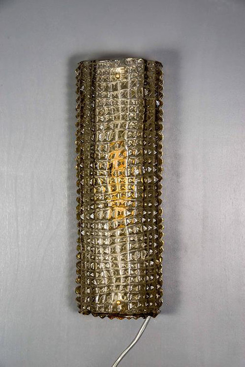 Brown Embossed Murano Glass Wall Sconces