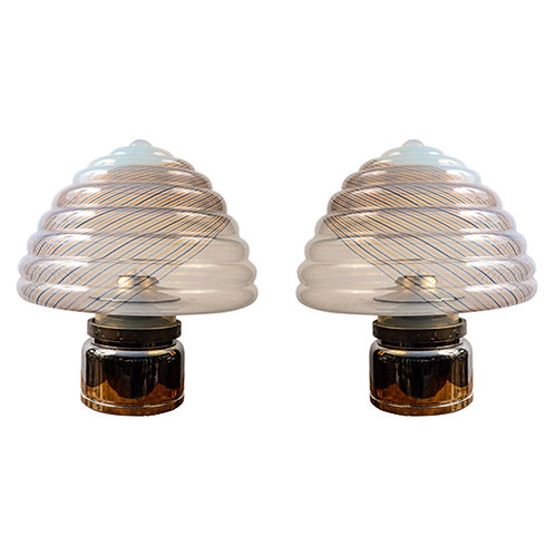 Pair of 1980's Lamps by Leucos