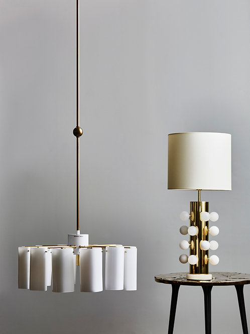 Pair of Tall Ark Chandeliers by Gert Nyström for Fagerhults Belysning