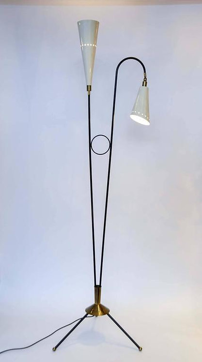 Rare Two Arms Floor Lamp
