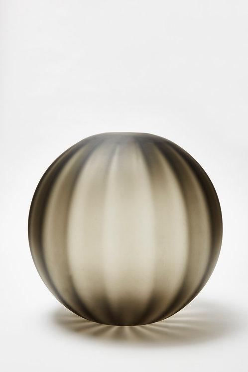 Armani Casa Murano Glass Black Round Vase