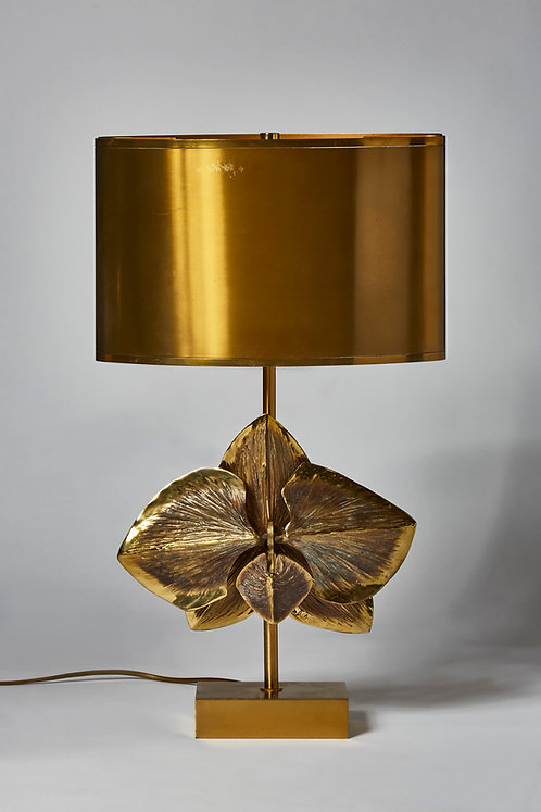 Bronze Orchid Table Lamp by Maison Charles