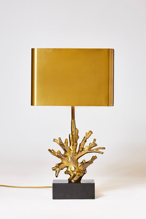 Bronze and Marble Maison Charles Coral Lamp
