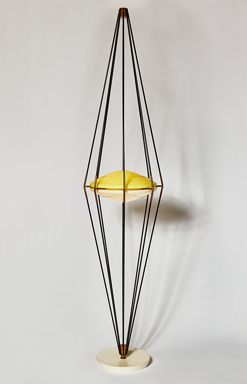 "Model 12628 ""Siluro"" Floor Lamp by Angelo Lelli for Arredoluce, 1957"