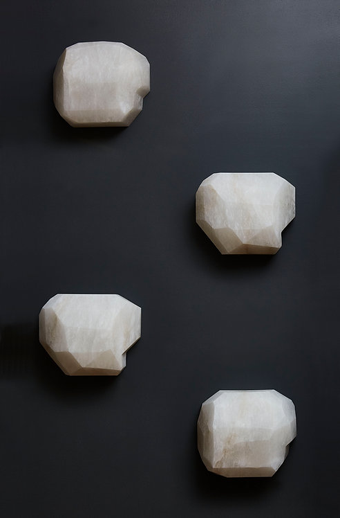 Monoliths Alabaster Wall Sconce by Galerie Glustin Luminaires