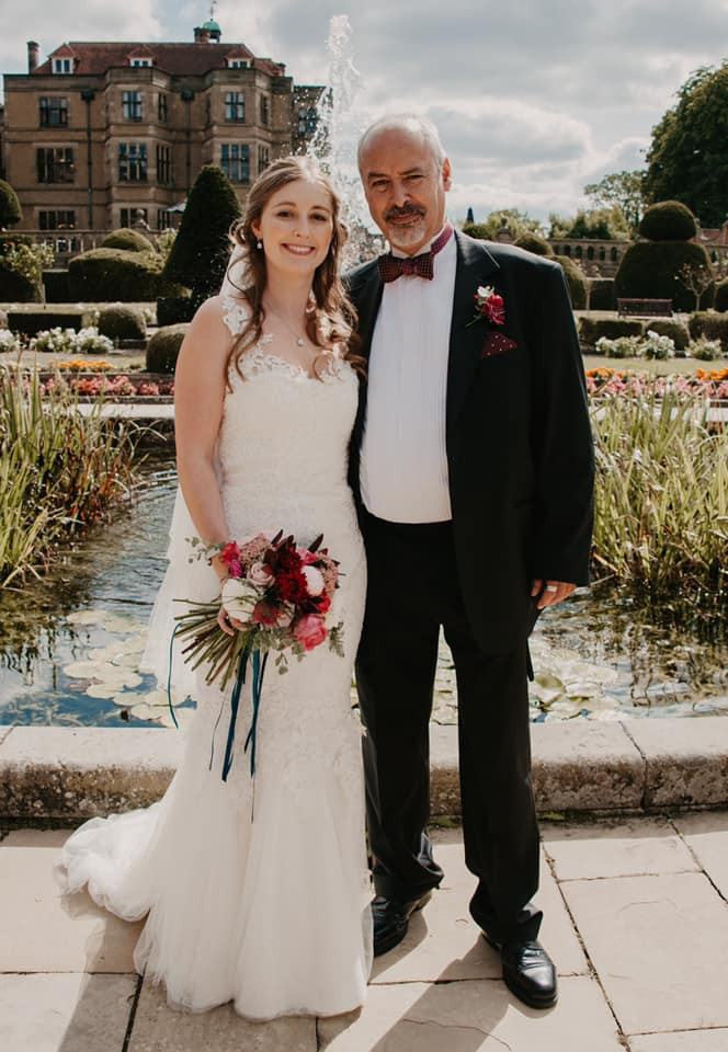 Bride with her father.