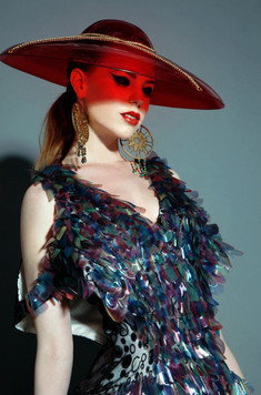 Editorial image of beaded gown from Luke Archer's 2012 Buprestidae collection, Photograph by Emilia Valerio.