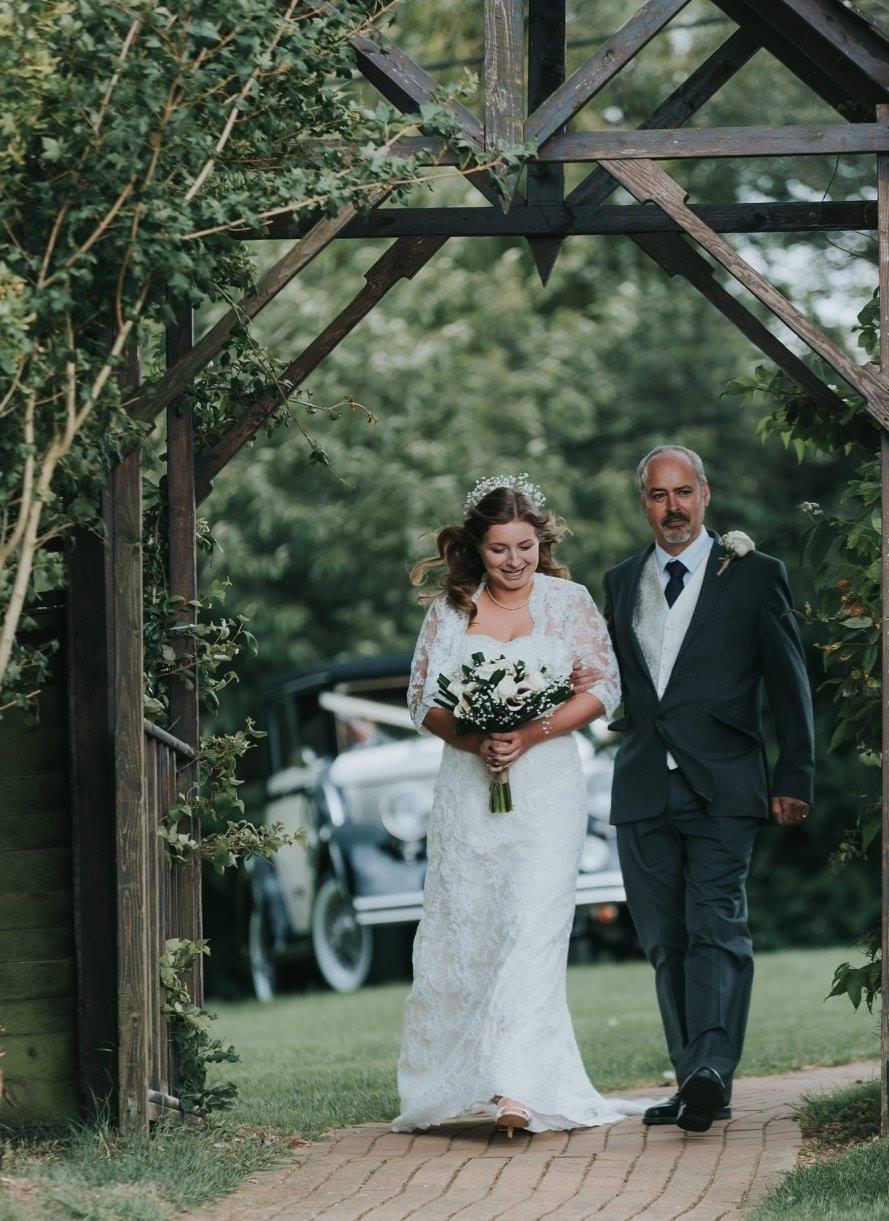 Father of the bride & bride.