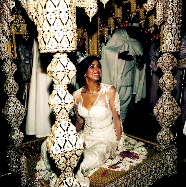 The bride during her wedding cermony.