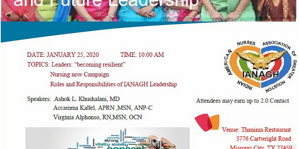 IANAGH Retreat for Past, Present and Future Leadership