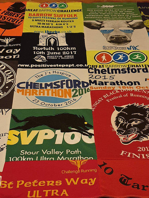 Blanket/Throw made from Race Shirts (from £35)