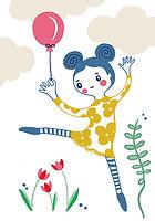 illustration zigzag zürich zig zag swiss design girl happy spring zigzagzürich helen kuchen