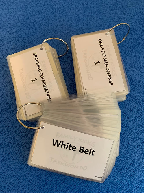 Laminated Study Cards - Colored Belts