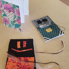 Samples of books in their final stages