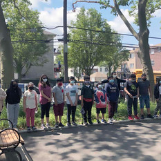 This photo depicts the culminating event hosted by LeapNYC at Evergreen Park in Ridgewood, NY. The students and their classroom teacher (front row) and I got to meet each other off screen for the first time.