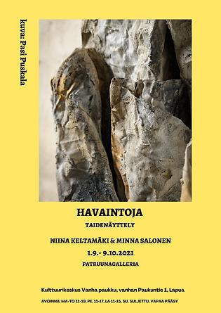Havaintoja- näyttely Niina Keltamäki ja Minna Salonen.png