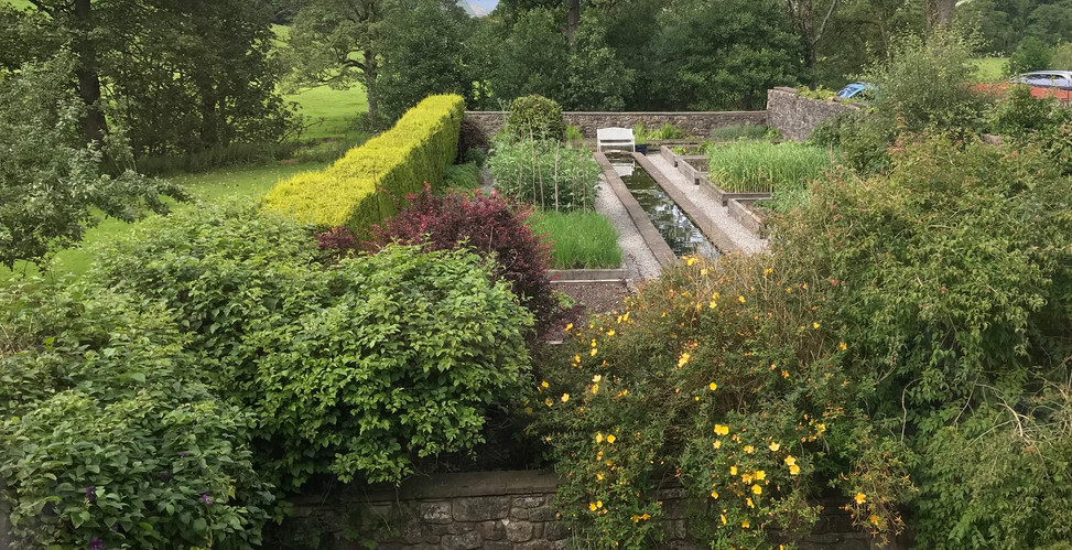 Herb garden at the Coach Houses